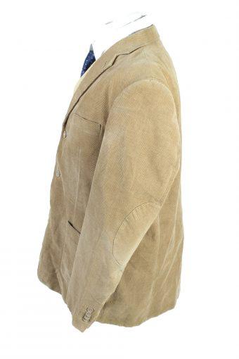 Vintage Niama Man Classic Velvet Lined Blazer Jacket Size 52 Brown HT2798-128232