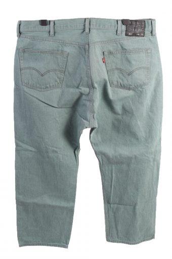 Vintage Levis 504 Over Size Unisex Denim Jeans W43 L28 Turquoise Green J4619-127154
