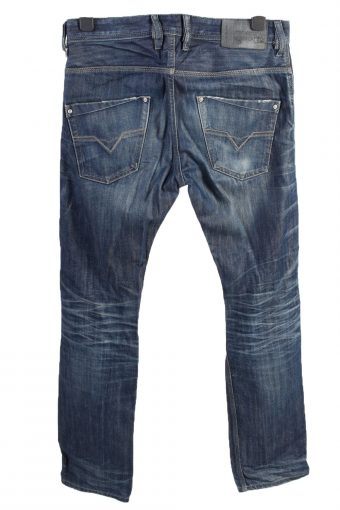 Vintage Diesel Krooley High Waist Unisex Denim Jeans W33 L33 Mid Blue J4624-127174