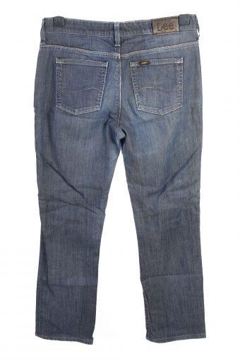 Vintage Lee Rice Straight Leg Mid Waist Womens Denim Jeans W30 L28.5 Mid Blue J4641-127584
