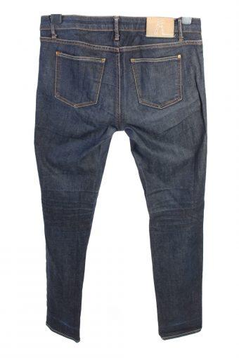 Vintage Zara Straight Leg Mid Waist Womens Denim Jeans W32 L31 Dark Blue J4642-127588