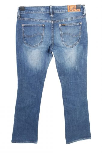 Vintage Lee Boot Cut Low Waist Womens Denim Jeans W30 L30 Mid Blue J4643-127592