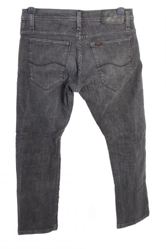 Vintage Lee Skinny Mid Waist Unisex Denim Jeans W32 L29.5 Charcoal J4649-127616