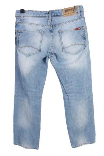 Vintage Mustang Michigan Mid Waist Unisex Denim Jeans W31 L30 Ice Blue J4652-127628