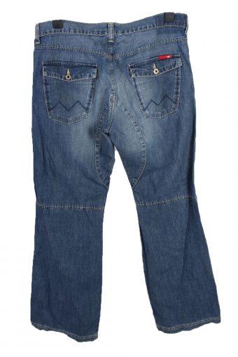 Vintage Mustang Mid Waist Unisex Denim Jeans W35 L33 Mid Blue J4655-127640