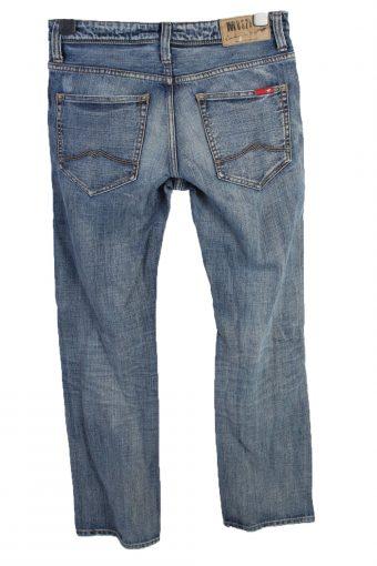 Vintage Mustang Michigan Straight Leg Mid Waist Unisex Denim Jeans W32 L32 Mid Blue J4656-127644