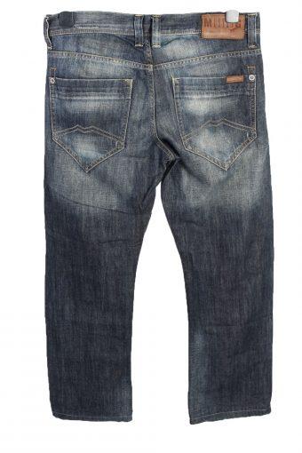 Vintage Mustang New Oregon Mid Waist Unisex Denim Jeans W32 L28.5 Mid Blue J4660-127660