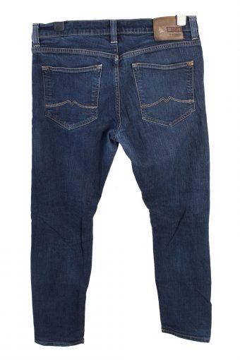 Vintage Mustang New Oregon Mid Waist Unisex Denim Jeans W35 L30.5 Dark Blue J4664-127676