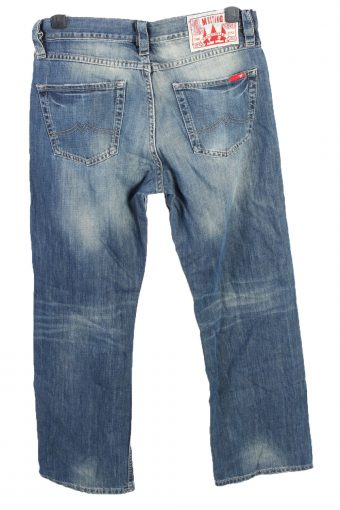 Vintage Mustang Identification Mid Waist Unisex Denim Jeans W33 L31.5 Mid Blue J4665-127680