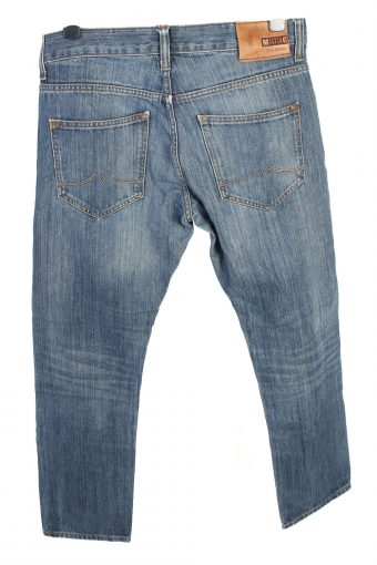 Vintage Mustang New Oregon Mid Waist Unisex Denim Jeans W34 L29.5 Mid Blue J4666-127684