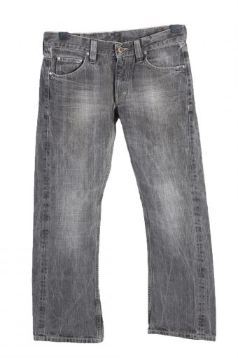 Vintage Mustang Stone Washed Mid Waist Unisex Denim Jeans W31 L29.5 Charcoal J4683-128428
