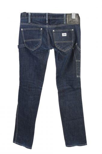 Vintage Lee Lynn Narrow Low Waist Womens Denim Jeans W30 L32.5 Dark Blue J4760-129130