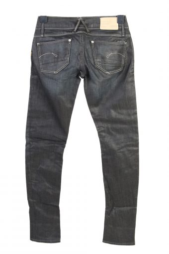 Vintage G-Star Skinny Low Waist Womens Denim Jeans W29 L32 Black J4769-129178