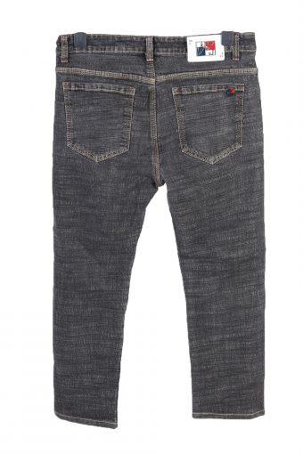 Vintage Jeans Wear Straight Leg High Waist Unisex Denim Jeans W34 L25 Black J4779-129218