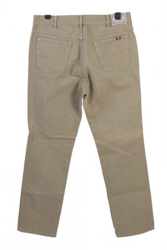 Vintage Mustang Straight Leg High Waist Unisex Denim Jeans W36 L33 Cream J4785-129243