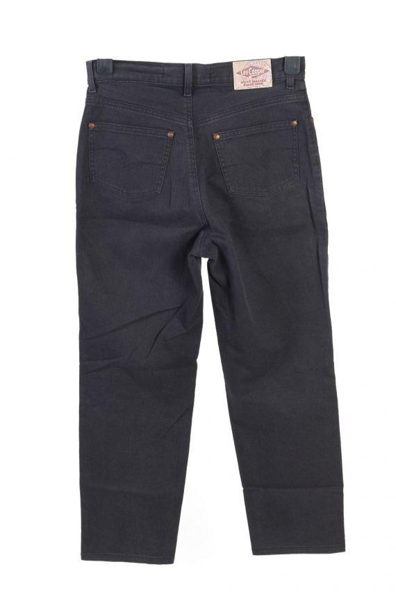 Vintage Lee Cooper High Waist Unisex Jeans W30 L26 Black J4813-129357