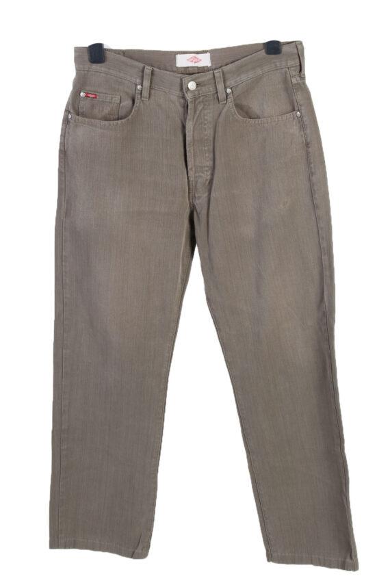 Vintage Lee Cooper High Waist Regular Leg Unisex Denim Jeans W32 L29 Khaki J4816-0