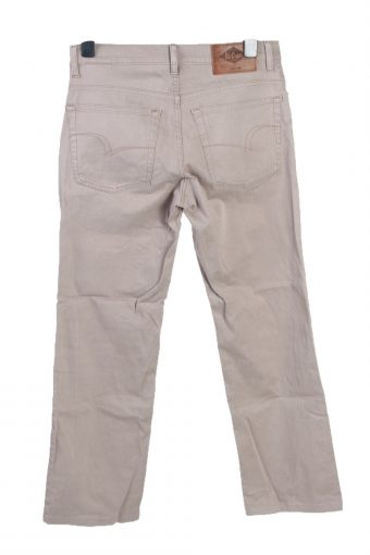 Vintage Lee Cooper Mid Waist Straight Leg Unisex Jeans W33 L30 Cream J4818-129377