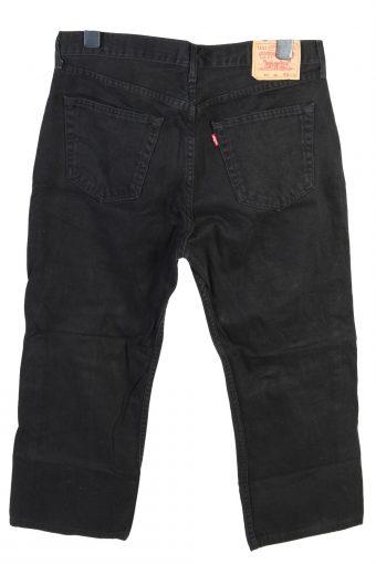Vintage Levis 751 High Waist Straight Leg Unisex Denim Jeans W35 L24 Black J4863-129566