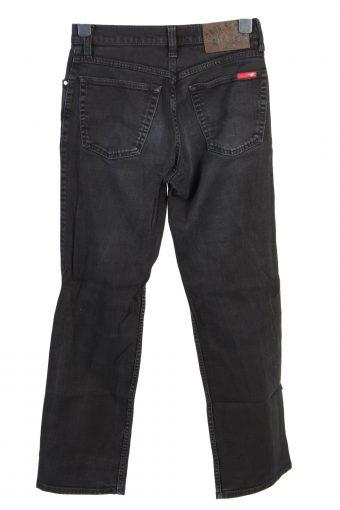 Vintage Mustang Mid Waist Straight Leg Unisex Denim Jeans W29 L30 Black J4876-129614