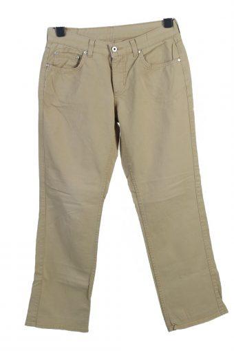 2 in 1 Cargo Trousers Combat Vintage Work Elastic Waist Khaki W37 L31