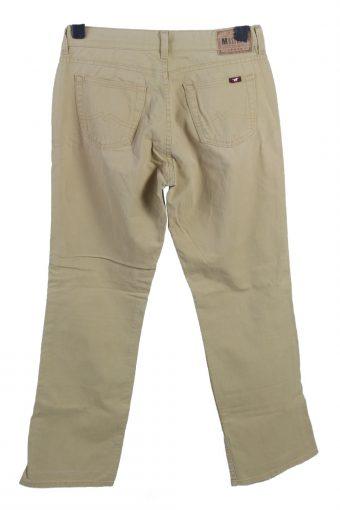 Vintage Mustang Mid Waist Straight Leg Womens Chino Trousers W30 L31 Camel J4937-129995