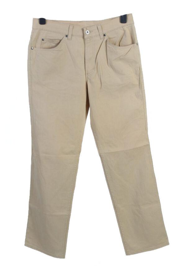 Vintage Mustang Tramper High Waist Womens Chino Trousers W33 L32 Cream J4938-0