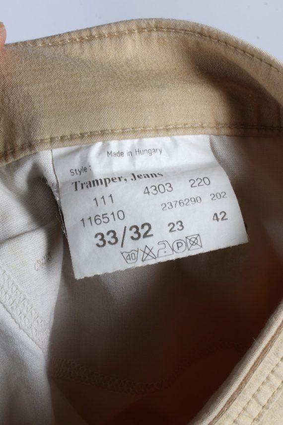 Vintage Mustang Tramper High Waist Womens Chino Trousers W33 L32 Cream J4938-130001