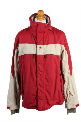 Vintage Helly Hansen Puffer Coat Jacket Unisex Size L Red