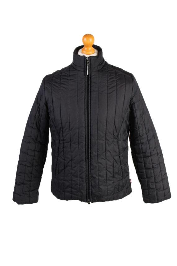 Vintage Fila Puffer Coat Jacket Unisex Size M (USA) Black -C1936-0