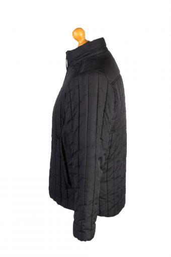 Vintage Fila Puffer Coat Jacket Unisex Size M (USA) Black -C1936-132900