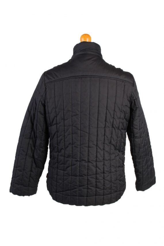 Vintage Fila Puffer Coat Jacket Unisex Size M (USA) Black -C1936-132901