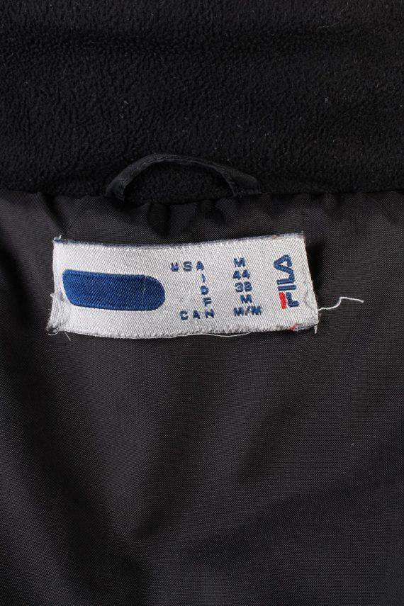 Vintage Fila Puffer Coat Jacket Unisex Size M (USA) Black -C1936-132902