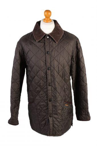 Vintage Barbour Quilted Jacket Mens Size Brown