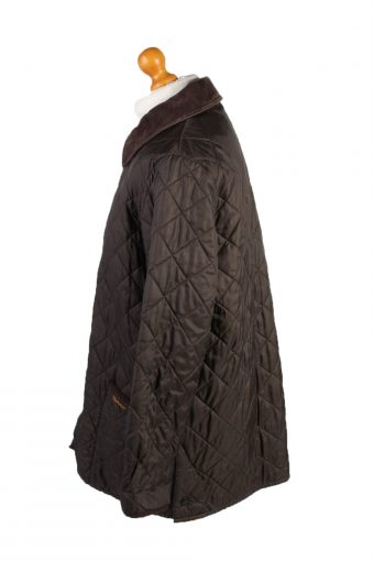 Vintage Barbour Quilted Jacket Mens Size Brown -C1947-132944
