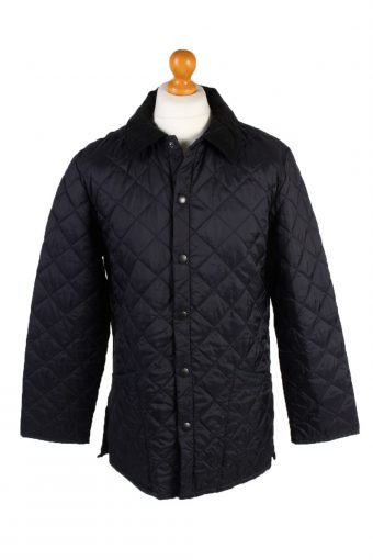 Vintage Barbour Quilted Jacket Mens Size S Navy
