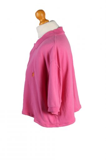 Vintage Ralph Lauren Womens Croped Top Polo Shirt Short Sleeve XL Pink CRTOP04-132221