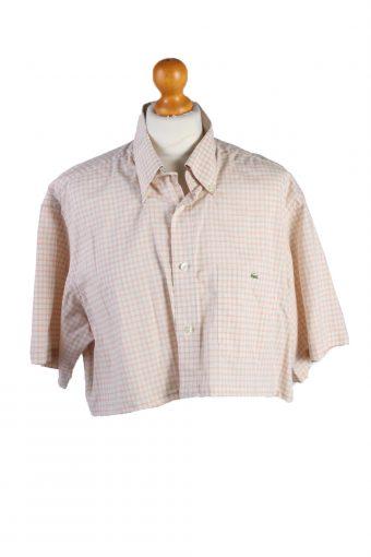 Lacoste Womens Croped Top Shirt Short Sleeve Remake Light Pink XL
