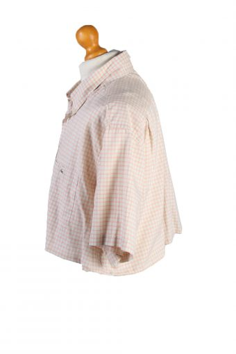 Vintage Lacoste Womens Croped Top Shirt Short Sleeve 43 Light Pink CRTOP08-132237