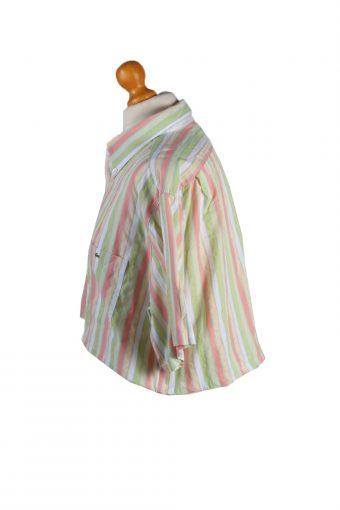Vintage Lacoste Womens Croped Top Shirt Short Sleeve 43 Multi CRTOP09-132241