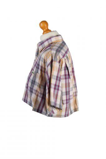 Vintage Lacoste Womens Croped Top Shirt Short Sleeve 40 Multi CRTOP10-132245