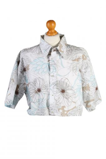 Womens Croped Top Shirt Short Sleeve Tout Simplement Remake Multi L/XL
