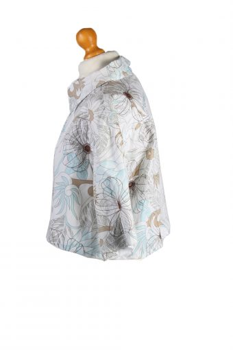 Vintage Tout Simplement Womens Croped Top Shirt Short Sleeve XL Multi CRTOP12-132253
