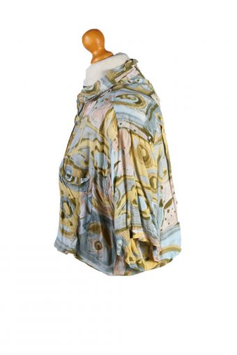 Vintage Womens Croped Top Shirt Short Sleeve L Multi CRTOP13-132257