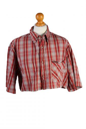 Marlboro Classics Womens Croped Top Shirt Short Sleeve Remake Red L/XL