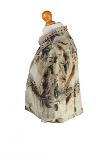 Vintage Campia Moda Womens Croped Top Shirt Short Sleeve M Cream CRTOP16-132269