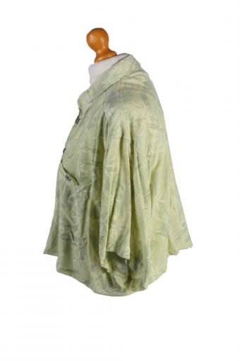 Vintage Aprion Womens Croped Top Shirt Short Sleeve L Green CRTOP17-132273
