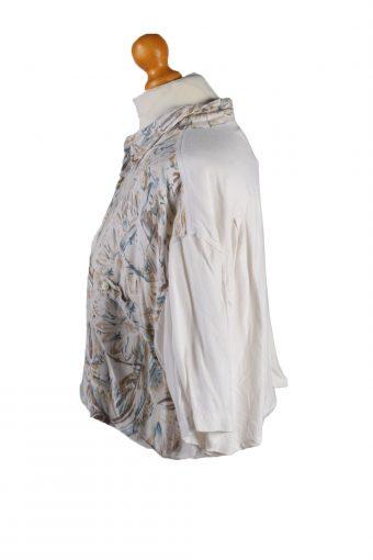 Vintage Ralph Lauren Womens Croped Top Shirt Short Sleeve L Beige CRTOP24-132301