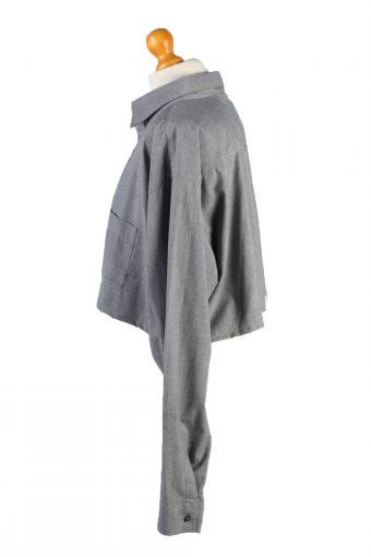 Vintage Mustang Womens Croped Top Shirt Long Sleeve XXL Grey CRTOP27-132313
