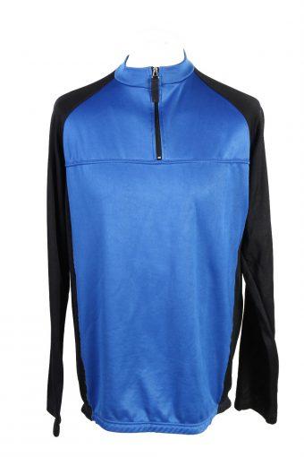 Cycling Shirt Jersey 90s Retro Blue L